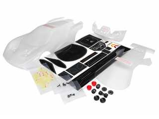 Traxxas Body, Ford GT (clear, requires painting)/ decal sheet (includes tail lights, exhaust tips, & mounting hardware) - TRX8311