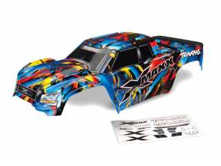 Traxxas Body, X-Maxx, Rock n Roll (painted, decals applied) (assembled with tailgate protector) - TRX7711T