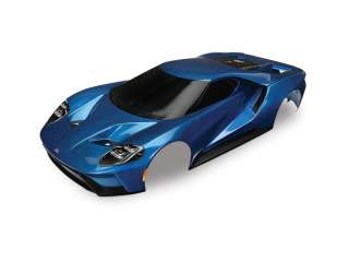 Traxxas Body Ford GT blue painted decals applied - TRX8311A