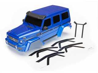 Traxxas Body Mercedes-Benz G 500 4x4, complete (blue) (includes rear body post, grill - TRX8811X