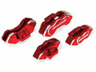 Traxxas Brake calipers, 6061-T6 aluminum (red-anodized), front (2)/ rear (2) - TRX8367R