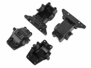 Traxxas Bulkhead, front & rear / differential housing, front & rear - TRX7530