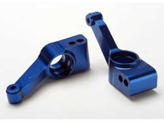 Traxxas Carriers, stub axle (blue-anodized 6061-T6 aluminum)(rear)(2) - TRX1952X