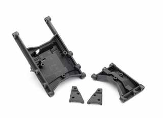 Traxxas Chassis crossmember (intermediate (1) & rear (1))/ shock mounts (left & right) - TRX8830