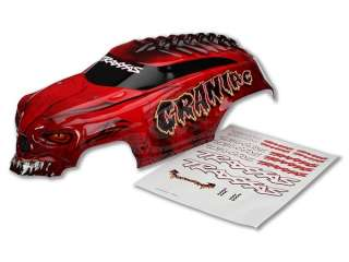 Traxxas Body, Craniac, red, heavy duty/ decals - TRX3634R