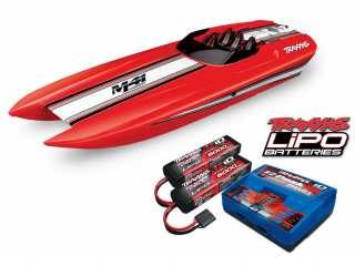 Traxxas DCB M41 Widebody Brusless Boat RTR TSM 2.4Ghz - inclusief Power Package