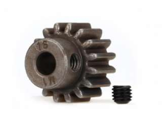 Traxxas Gear 17-T pinion 1.0 metric pitch 20 pressure angle fits 5mm shaft set screw - TRX6490