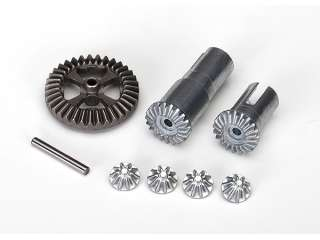 Traxxas Gear set, differential, metal (output gears (2)/ spider gears (4)/ ring gear, 35T (1)/ 2x14.8mm pin (1)) - TRX7579X