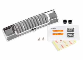 Traxxas Grill, Bigfoot No. 1 (chrome)/ decals/ adhesive tape/ mounting hardware - TRX3656