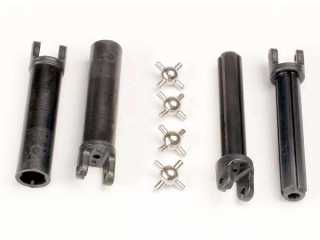 Traxxas Half shafts, long truck (external-splined (2) & internal-splined (2)/ metal U-joints (4) - TRX1951