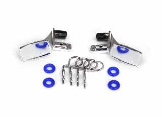 Traxxas Mirrors, side, chrome (left & right)/ o-rings (4)/ body clips (4) - TRX8133