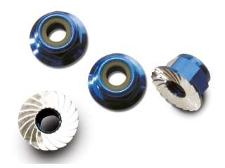Traxxas Nuts aluminum 4mm blue-anodized - TRX1747R
