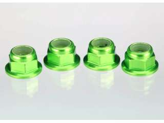 Traxxas Nuts aluminum 4mm green-anodized - TRX1747G