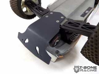 Traxxas Rustler XL5 VXL - T-Bone Racing Basher rear bumper & motor guard