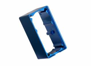 Traxxas Servo case, aluminum (blue-anodized) (middle) (for 2250 servo) - TRX2254
