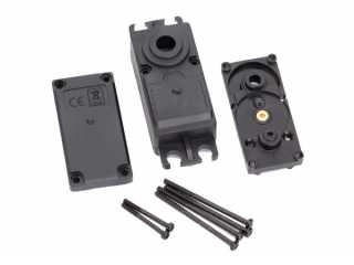Traxxas Servo case, plastic (top, middle, bottom)/ gaskets/ hardware (for 2250, 2255 servos) - TRX2251