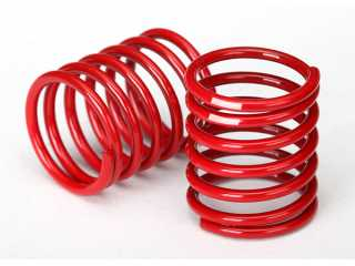 Traxxas Spring, shock (red) (2.8 rate, white stripe) (2) - TRX8366