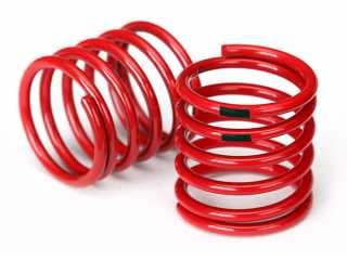 Traxxas Spring, shock (red) (4.4 rate, black stripe) (2) - TRX8364