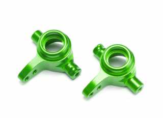 Traxxas Steering blocks, 6061-T6 aluminum (green-anodized), left & right - TRX6837G
