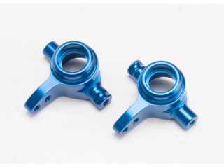 Traxxas Steering blocks aluminum left & right blue-anodized - TRX6837X