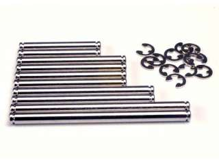 Traxxas TRX1939 - Suspension pin set, hard chrome (w/ E-clips)