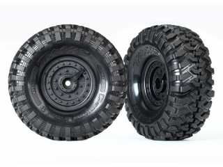 Traxxas Tires and wheels, assembled, glued (Tactical wheels, Canyon Trail 1.9 tires) (2) - TRX8273