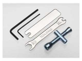 Traxxas Tool Set (1.5mm &2.5mm allens/ 4-way lug, 8mm &4mm wrench & U-joint wrenches) - TRX2748X