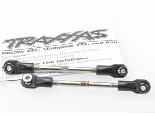 Traxxas Turnbuckles, toe link, 59mm (78mm center to center) (2) (assembled with rod ends and hollow balls) - TRX3745