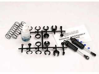 Traxxas Ultra Shocks (black) (long) (complete w/ spring pre-load spacers & springs) (front) (2) - TRX3760