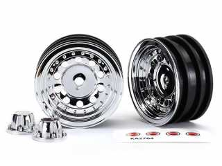 "Traxxas Wheels, 1.9"", chrome (2)/ center caps (2)/ decal sheet (requires TRX8255A extended stub axle) - TRX8175"