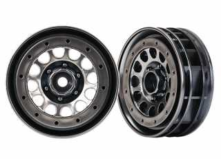"Traxxas Wheels, Method 105 1.9"" (black chrome, beadlock) (beadlock rings sold separately) - TRX8173"