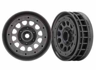 "Traxxas Wheels, Method 105 1.9"" (charcoal gray, beadlock) (beadlock rings sold separately) - TRX8173A"