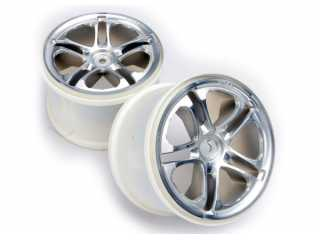 "Traxxas Wheels, SS (split spoke) 3.8"" (satin) (2) (fits Revo/Maxx series) - TRX5172"