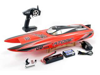 Volantex Racent Atomic 70cm Brushless Racing Boat RTR - Red