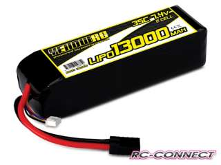 Yellow RC LiPo 13000mAh 7.4V 2S 35C Traxxas Slash & Slash 4x4