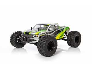 Yellow RC Rock Racer electro monster truck 2.4Ghz RTR - Groen